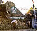 Buddhist mantras painted on stones on the trail to Khumbu Nepal - panoramio.jpg