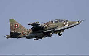 Bulgarian Air Force Sukhoi Su-25UBK Lofting.jpg