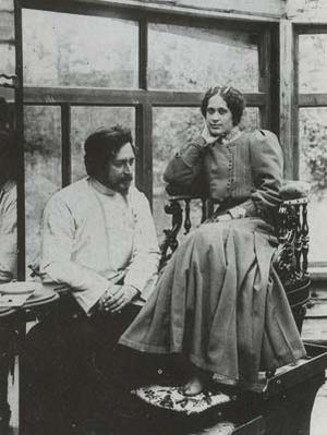 Leonid Andreyev - Leonid Andreyev and his second wife, Anna