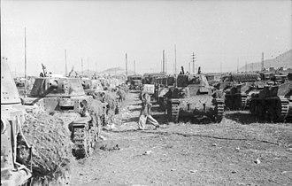 Fiat M14/41 - Italian M 14/41 tanks in depot, September 1943.
