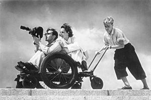 Walter Frentz - Frentz with Leni Riefenstahl during the filming of Olympia in 1936