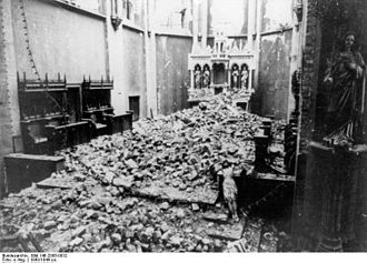 Bochum - Bombed out St. Marien Church, 1943