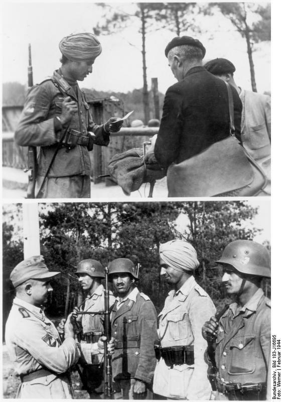 """Bundesarchiv Bild 183-J16695, Soldaten der Legion """"Freies Indien"""""""