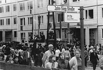 John Sieg - Street named after John Sieg in Berlin, June 1972