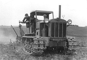 T-1 tractor - Soviet STZ agricultural tractor, the vehicle the T-1 was based on