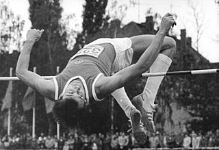 East German high jumper