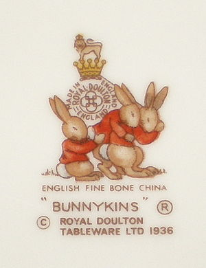 Royal Doulton Bunnykins - Royal Doulton Bunnykins tableware backstamp