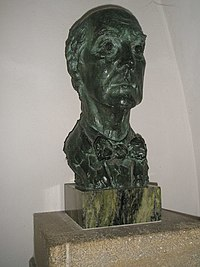 Bust of Sir Edward Maufe within Guildford Cathedral - geograph.org.uk - 1152395.jpg