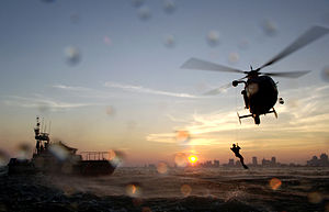Coast Guard Air Station Atlantic City -  HH-65C and crew offshore of Atlantic City, NJ