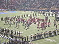 Cal & Stanford bands performing pregame at 2008 Big Game 1.JPG