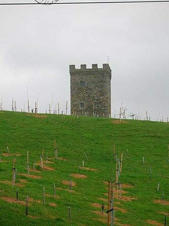 Lugton - The Caldwell Tower 'Folly' near Uplawmoor.