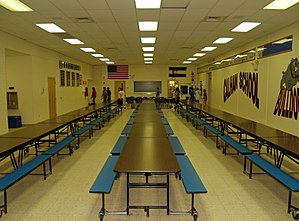 Calhan, Colorado high school cafeteria.