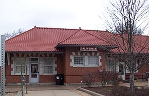 California, Pennsylvania - A converted train station serves as the California Public Library.