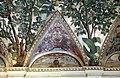 Camillo mantovano, volta della sala a fogliami di palazzo grimani, 1560-65 ca., lunette con grottesche e rebus allusivi al processo per eresia di giovanni grimani 03.jpg