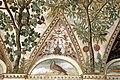 Camillo mantovano, volta della sala a fogliami di palazzo grimani, 1560-65 ca., lunette con grottesche e rebus allusivi al processo per eresia di giovanni grimani 19.jpg