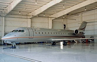 Bombardier CRJ200 - CRJ-100SE corporate aircraft at Kenosha, Wisconsin in 1997