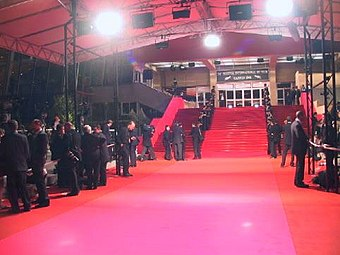 giant red carpet at Cannes Film Festival