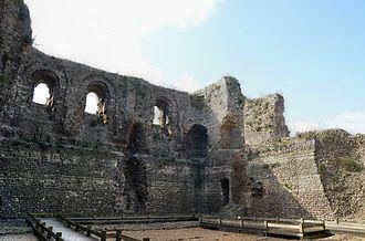 Canterbury Castle - The interior of Canterbury Castle