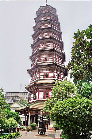 Temple of the Six Banyan Trees - The Temple's pagoda