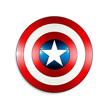 an example of captain america 39 s shield. Black Bedroom Furniture Sets. Home Design Ideas