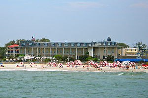 Congress Hall (Cape May hotel) - Image: Cape May Congress Hotel from the sea