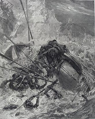 Southport and St Anne's lifeboats disaster - Illustration of the capsizing of the lifeboat Eliza Fernley