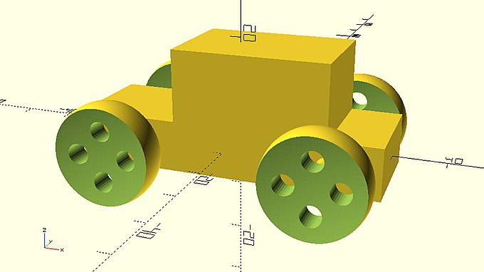 Car with wheels created by parameterized module.jpg