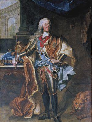 Charles VII, Holy Roman Emperor - Portrait by Georg Desmarées