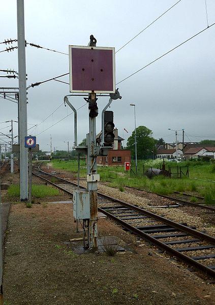Railway stop signal