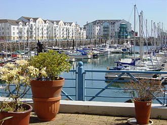 Carrickfergus - The marina complex in Carrickfergus.