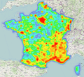 Carte de chaleur des prises de vues aériennes IGN disponibles sur Géoportail (période 1919-2010).png