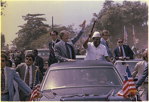 William R. Tolbert Jr. - Tolbert during U.S. President Jimmy Carter's visit to Monrovia in April 1978.