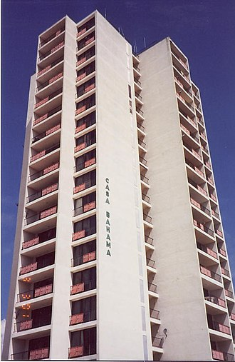 Grand Bahama - Casa Bahama, an 18-story condominium, the tallest building in Grand Bahama