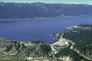 Lake Cascade dam in Valley County, Idaho
