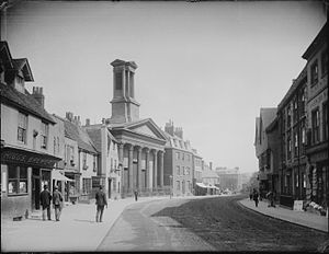 St Mary's Church, Castle Street, Reading - Image: Castle Street, Reading, 1890