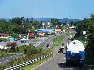 Castlewood, Virginia - U.S. Route 58 in Castlewood