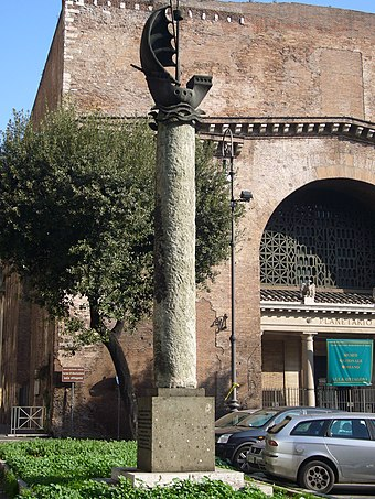 Column dedicated to Paris in 1956 near the Baths of Diocletian