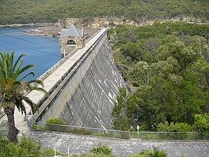 Cataract Dam - Cataract Dam wall