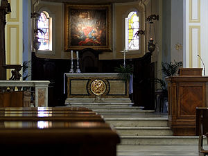 Alatri Cathedral - Interior detail