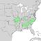 Celtis tenuifolia range map 1.png