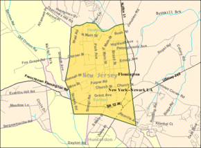 Census Bureau map of Flemington, New Jersey.png