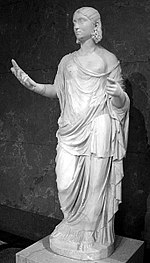 This statue depicting Ceres holding wheat is on display at the Louvre in Paris, France.