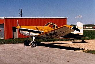 Cessna 188 - A Cessna A188B-300 AGtruck at Steinbach, Manitoba, May 1988