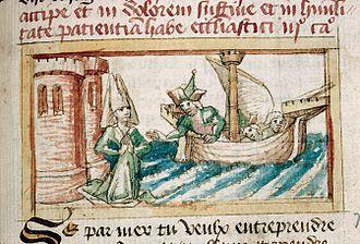 Ceyx - Ceyx leaving Halcyone (France, 15th century)