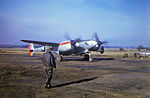 Chalgrove Airfield - 7th Reconnaissance Group - F-5 Lightning landing.jpg