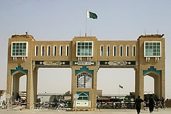 Chaman Gate border between Pakistan and Afghanistan