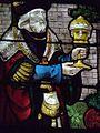 Champeaux (77) Collégiale Saint-Martin Vitrail de l'adoration des mages Détail1.jpg