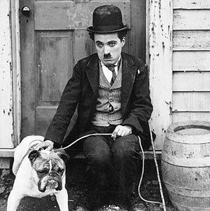 Comedian - Charlie Chaplin in the film The Champion, 1915