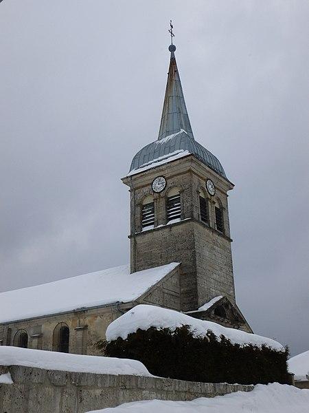 Clocher de l'église de Charix, dans l'Ain