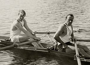 Paul Costello - McIlvaine and Costello (right) at the 1928 Olympics